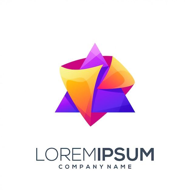 Треугольный дизайн логотипа Premium векторы