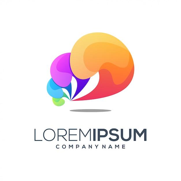 Абстрактный цветной логотип Premium векторы