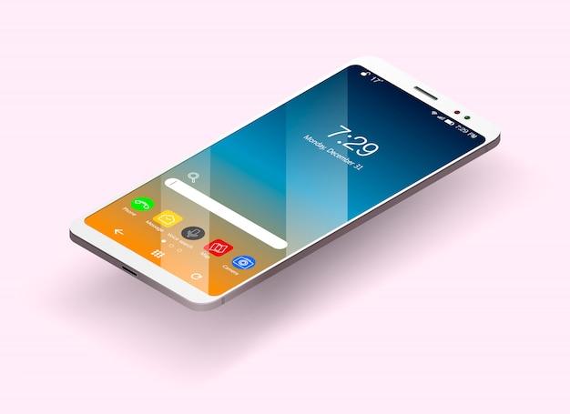 等尺性とフラットスタイルのスマートフォン Premiumベクター