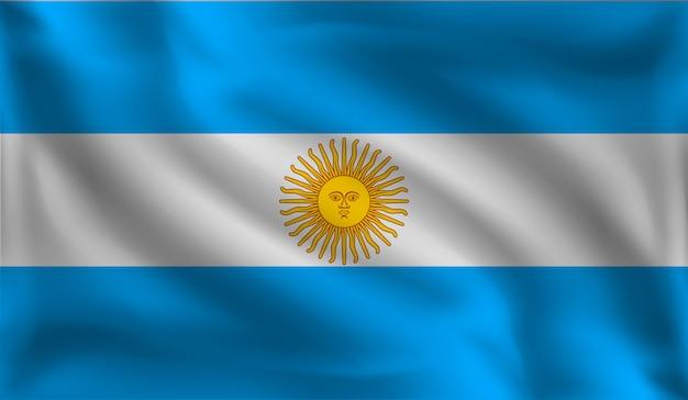 アルゼンチンの旗、アルゼンチンの旗を振る Premiumベクター
