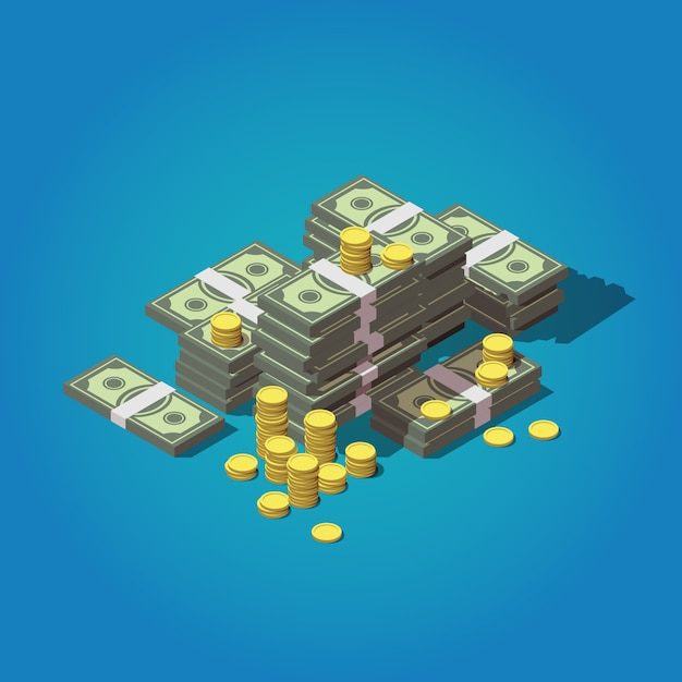 Изометрические деньги концепция Premium векторы