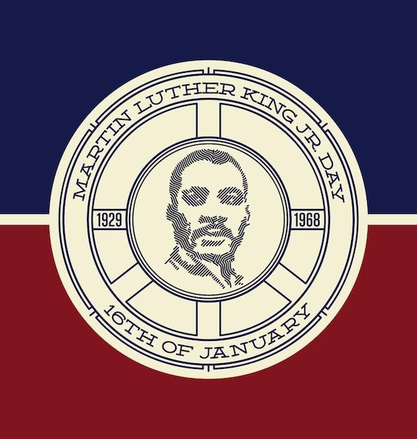 マーティン・ルーサー・キングの背景デザイン 無料ベクター