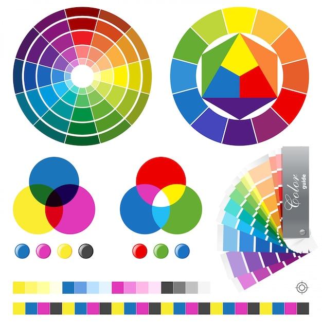 Руководства по цвету Premium векторы