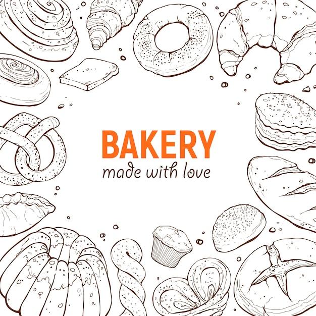 Шаблон плаката пекарни Premium векторы