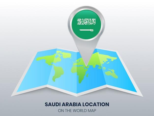 世界地図上のサウジアラビアの位置 Premiumベクター