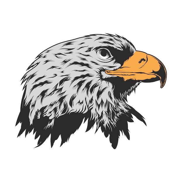 Дизайн орел головы фон Бесплатные векторы