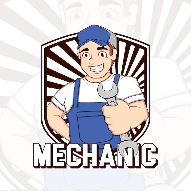 メカニックの背景デザイン 無料ベクター