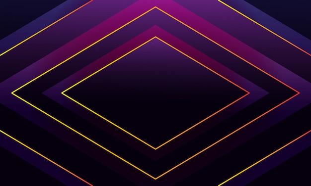 Абстрактный роскошный фон с блестящими золотыми линиями Premium векторы