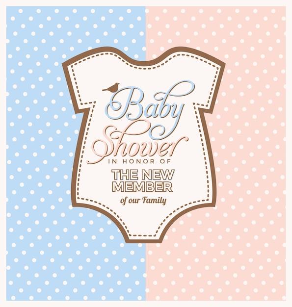ピンクの虎とベビーシャワーの招待状のデザイン 無料ベクター
