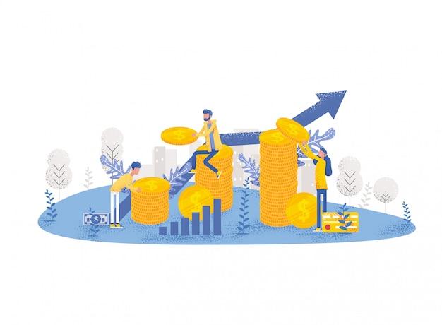 事業投資コンセプト Premiumベクター