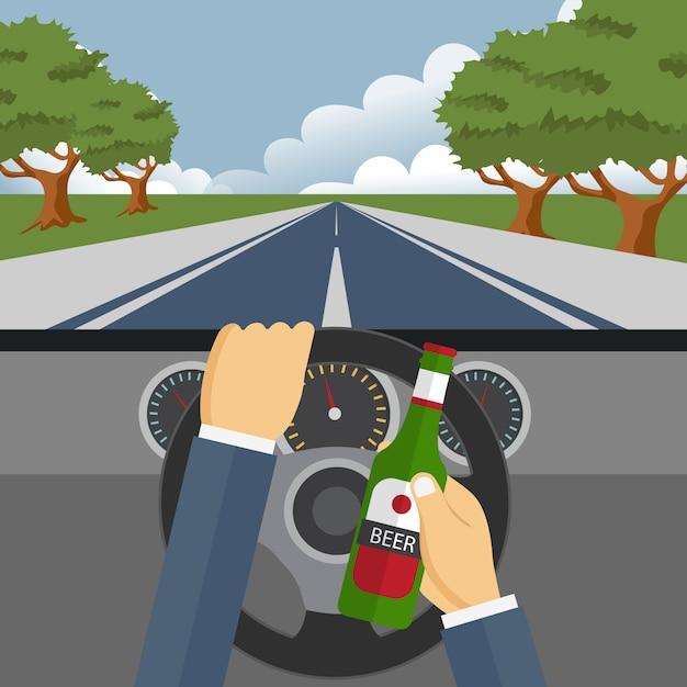 飲酒と運転のコンセプト Premiumベクター