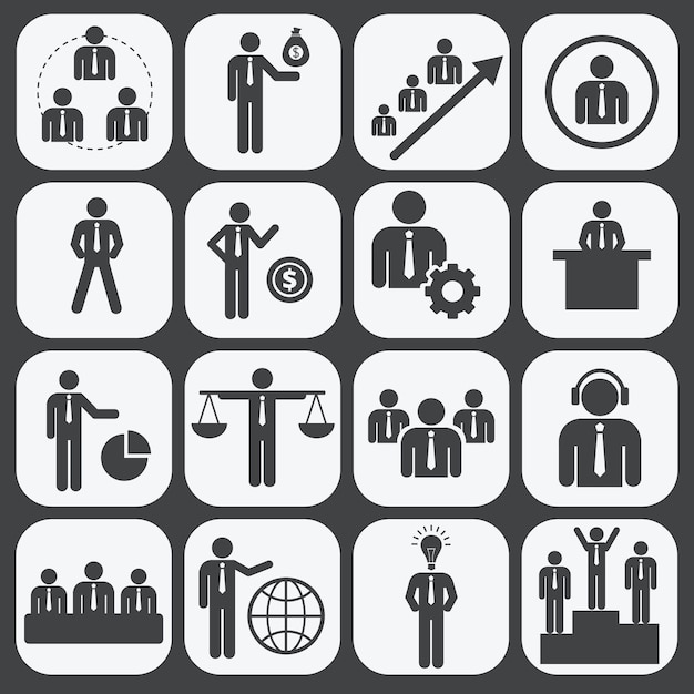人的資源および管理 無料ベクター
