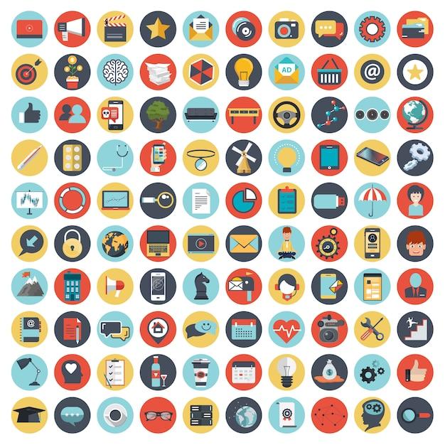 Набор иконок для сайтов и мобильных приложений Premium векторы