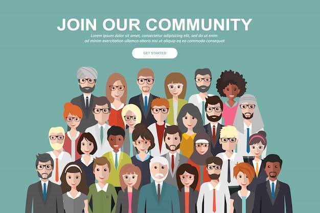 私たちのコミュニティに参加する Premiumベクター