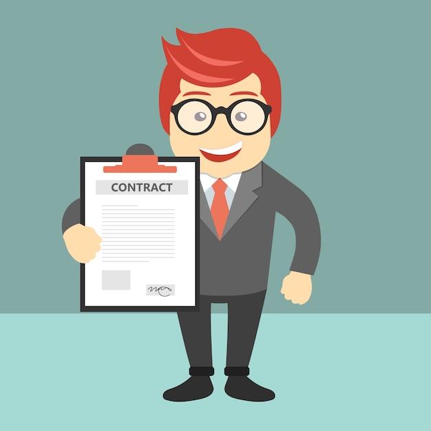 契約書および契約書 無料ベクター