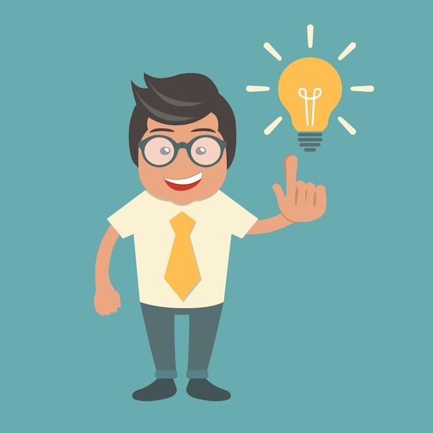 Предприниматель с идеей Бесплатные векторы