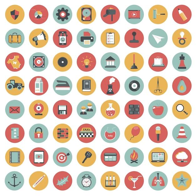 Набор значков для веб-сайтов и мобильных приложений Premium векторы