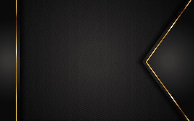 黄金の抽象的な豪華な暗い背景 Premiumベクター