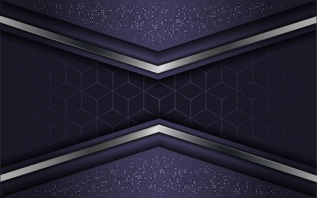 Абстрактная роскошная фиолетовая с накладным слоем Premium векторы