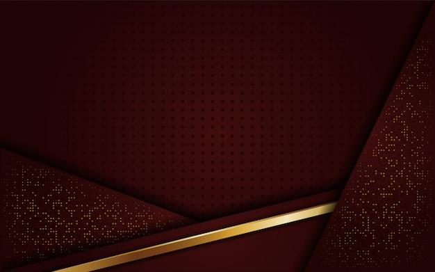 豪華なエレガントな黄金茶色の背景 Premiumベクター
