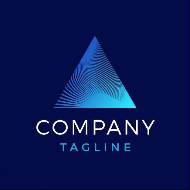 Роскошный современный абстрактный треугольник призмы градиент логотип Premium векторы