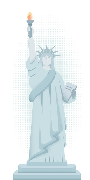 ニューヨークの自由の女神。 Premiumベクター
