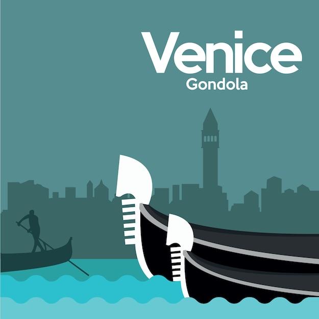 ヴェネツィアの背景デザイン 無料ベクター