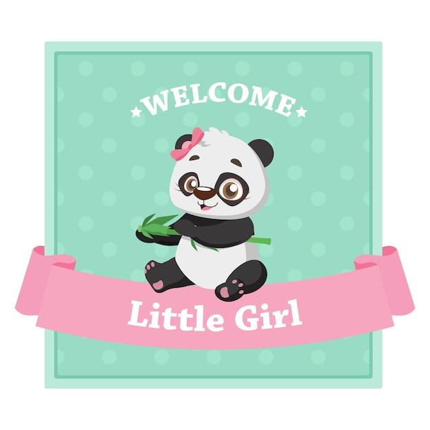 女の子のための赤ちゃんの性別を明らかにする Premiumベクター