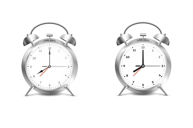 リアルな目覚まし時計。 Premiumベクター
