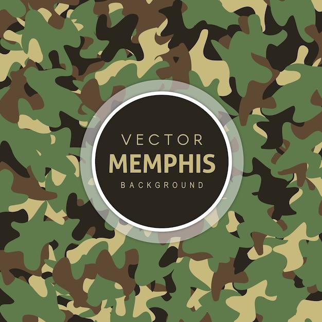 ユニークな陸軍のパターンの背景 無料ベクター