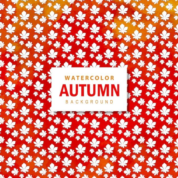 カラフルな水彩秋の背景 Premiumベクター