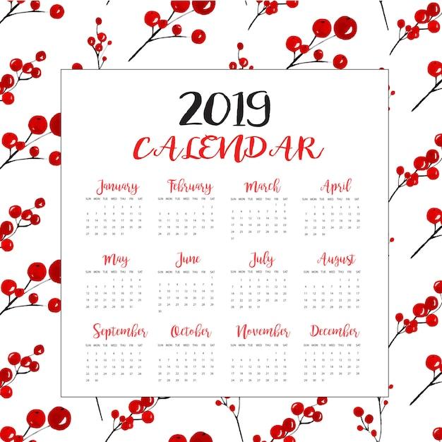 新年カレンダー Premiumベクター