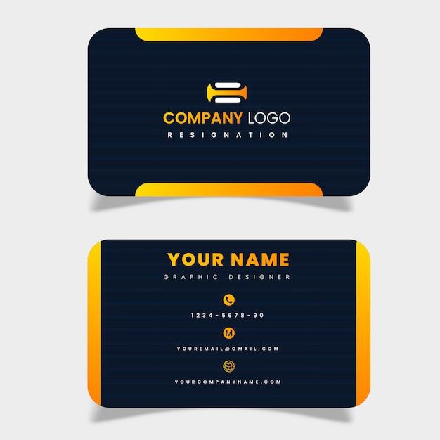 Профессиональная визитка Premium векторы