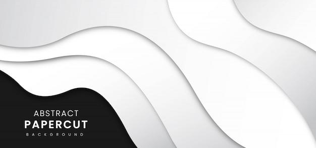 抽象的なスタイリッシュな紙カットの背景 Premiumベクター