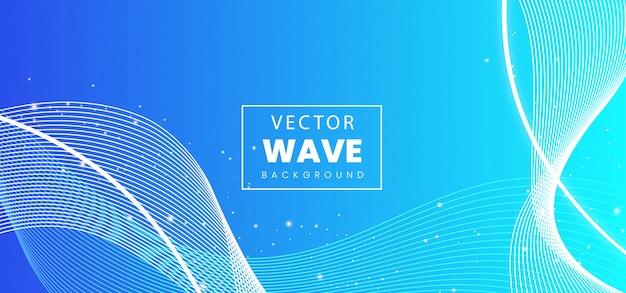 抽象的な波線カラフルな背景 Premiumベクター