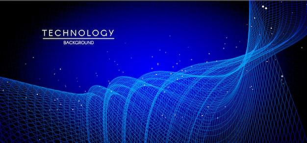 Мемфис абстрактный синий фон Premium векторы
