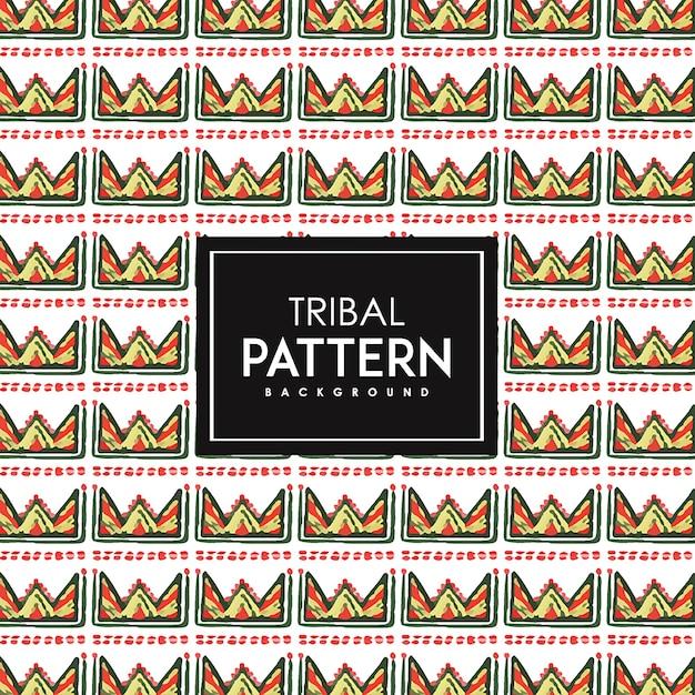 手描きの水彩部族のパターンの背景 Premiumベクター