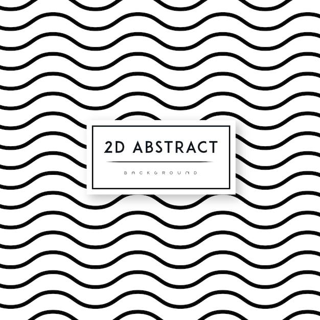 Двухмерный векторный абстрактный черно-белый фон Бесплатные векторы