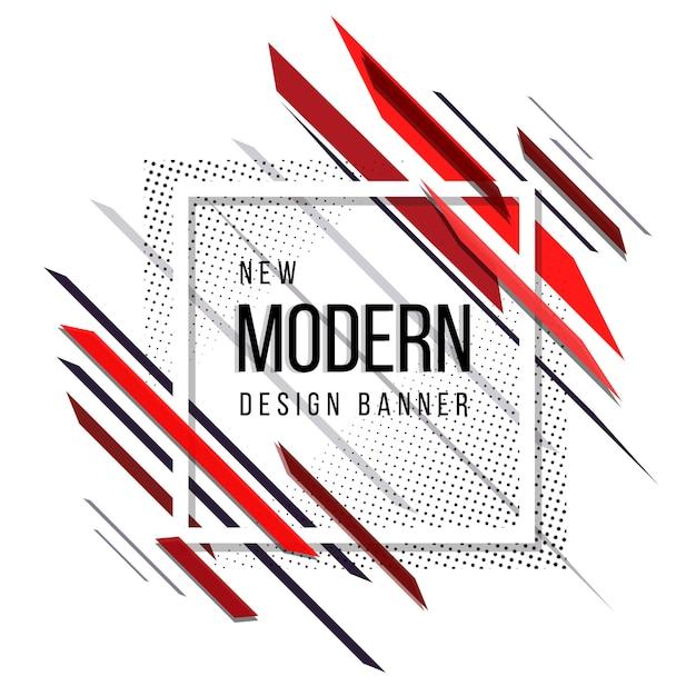 Красный и черный современный абстрактный полутоновый баннер Бесплатные векторы