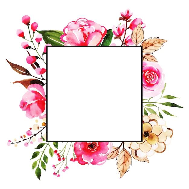 Красивые картинки рамки цветы акварель