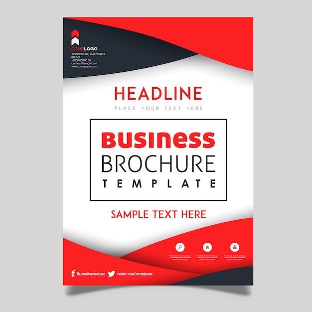 カラフルなベクタービジネスパンフレットのテンプレートデザイン 無料ベクター