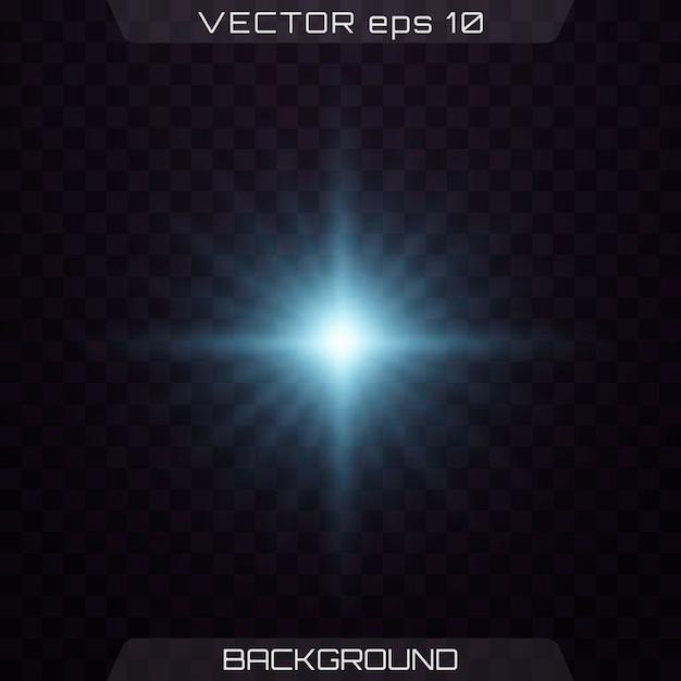Светящийся свет, блестки, блики на объективе. Premium векторы