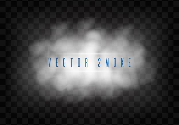霧や煙は、透明な特殊効果を分離しました。 Premiumベクター