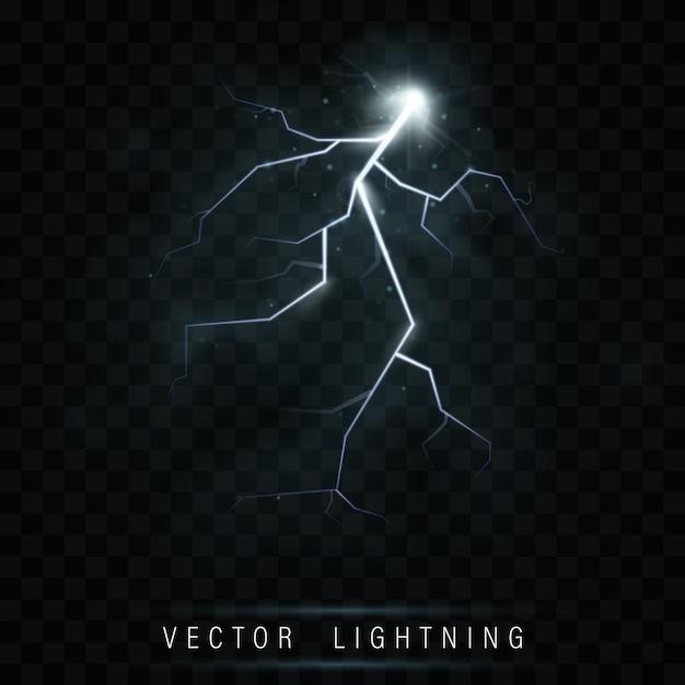 Вспышка молнии. неоновая цветовая энергия. Premium векторы