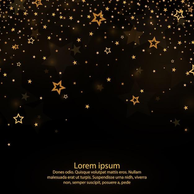 Падающие звезды. световая завеса золотая пыль, конфетти. Premium векторы
