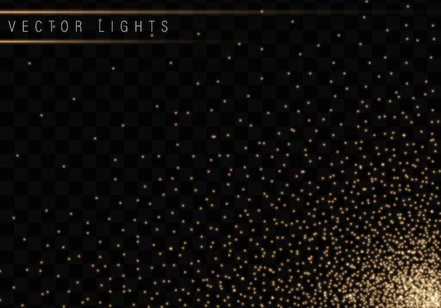 Рождество сияет, изолированные на прозрачном фоне Premium векторы