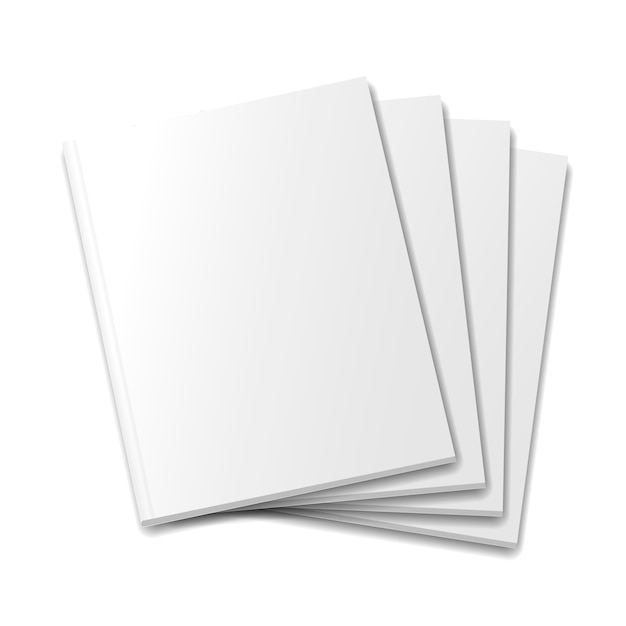 Пустые обложки макета журнала или книги Premium векторы