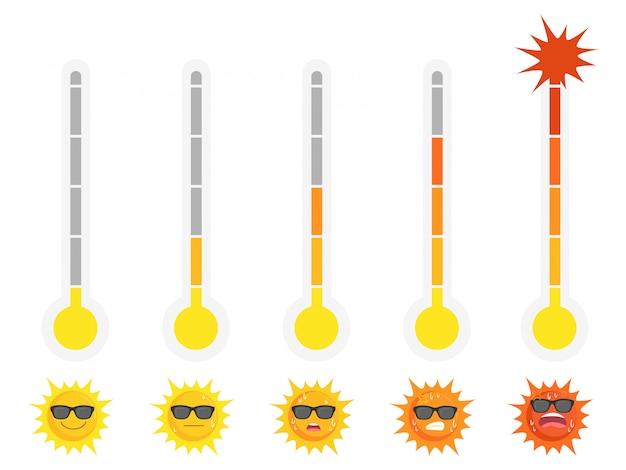 Солнце лето Premium векторы