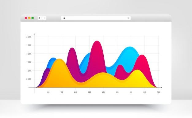 Шаблон диаграммы инфографики Premium векторы