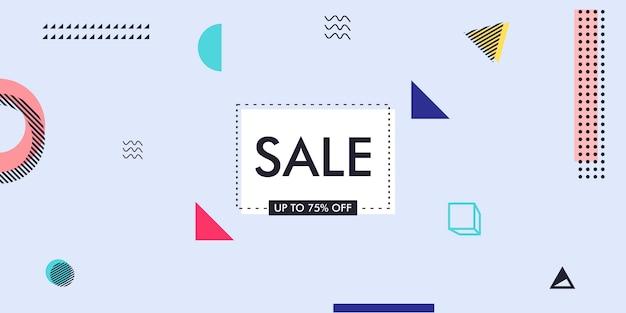 Рекламная продажа рекламы дизайн фона с элементами мемфиса Premium векторы